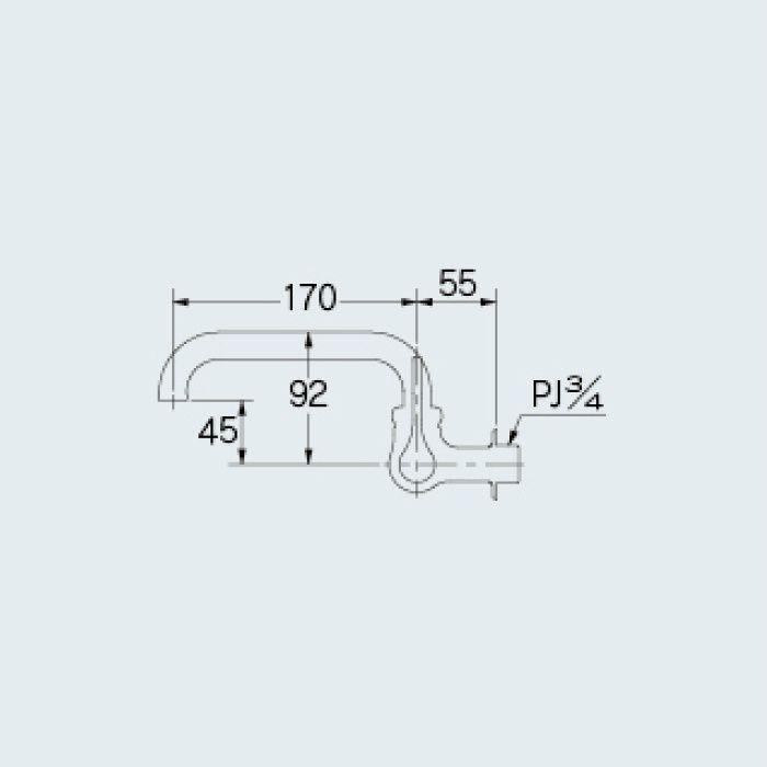 707-007-20 厨房水栓 厨房用横形自在水栓