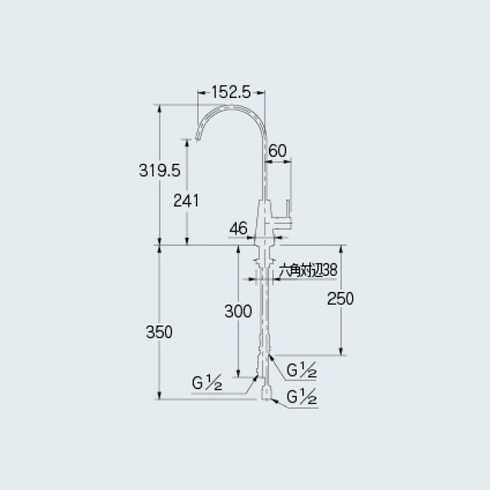 721-010 一般水栓 浄水器用元止め水栓