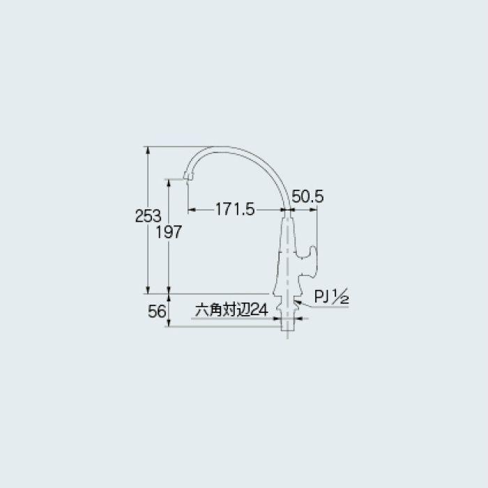 721-212 一般水栓 立水栓