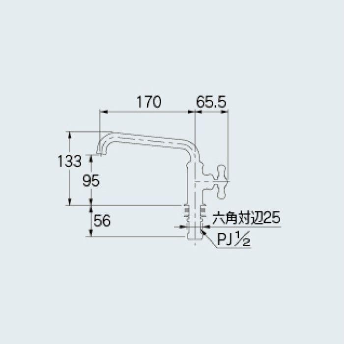 700-767-D 一般水栓 立形自在水栓 マットブラック