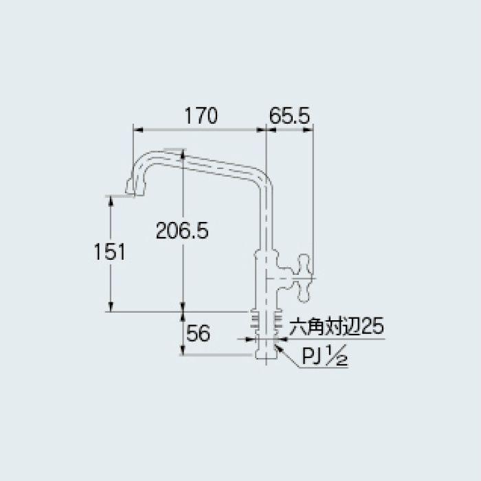 700-768-BP 一般水栓 泡沫立形自在水栓 ブロンズ