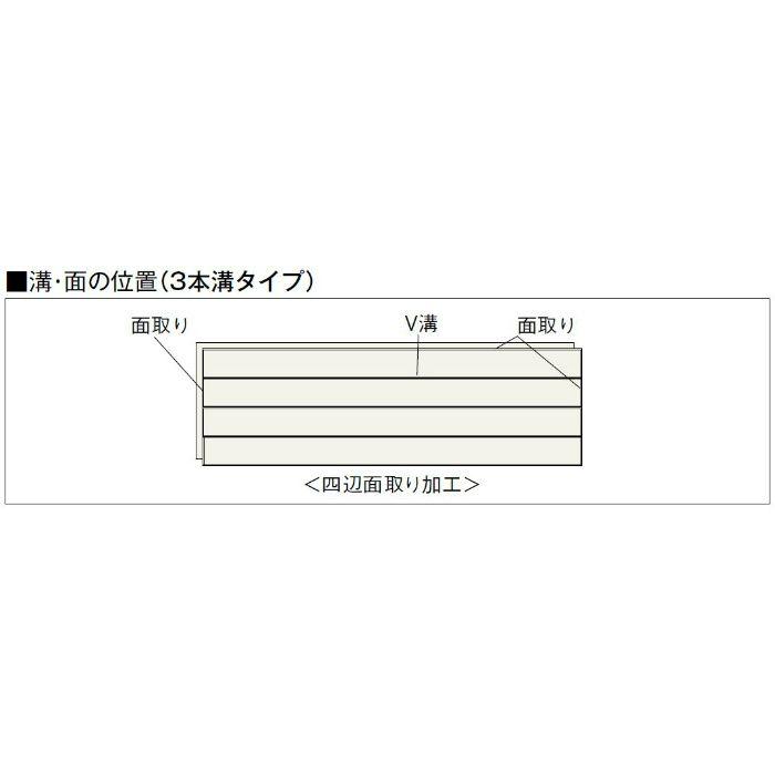 NK-KC Nクラレス 3本溝タイプ なら 根太・上履用 12mm厚 なら カインドチェリー色