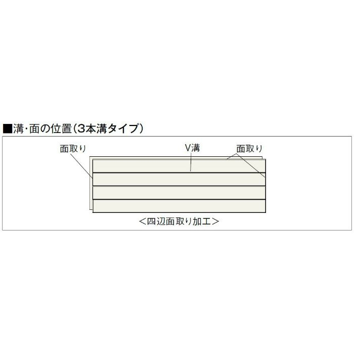 NK15-KC Nクラレス15 3本溝タイプ なら 根太・上履用 15mm厚 なら カインドチェリー色