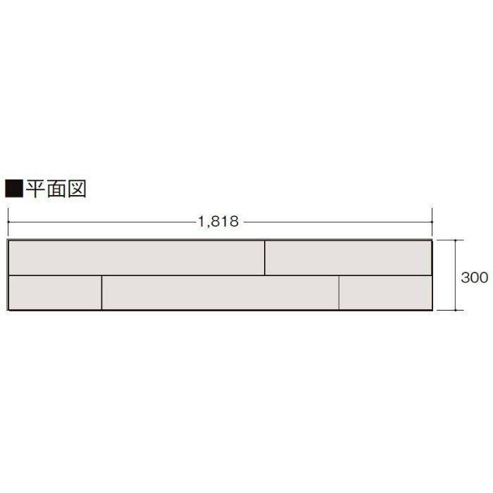 LZYMRW6BJ ハーモニアスリフォーム6(床暖房非対応) 木目タイプ[150] クリエモカ ウォルナット柄 横溝あり