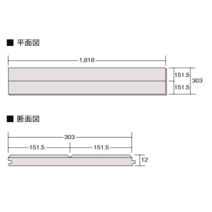 DK-LD2B01-MAFF ラシッサ Dフロア 木目タイプ[151] ナチュラルオークF ほんのり Foot feel