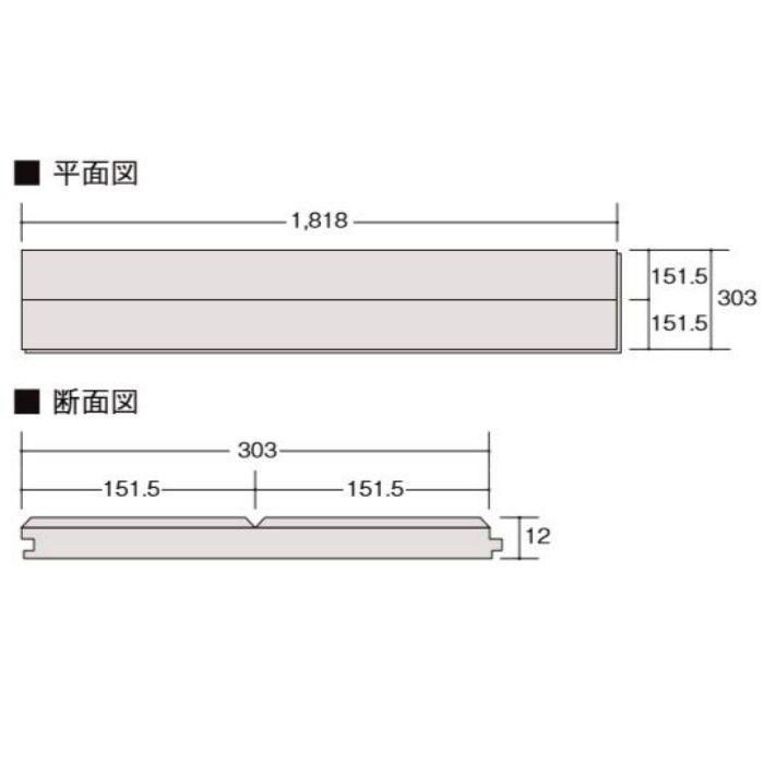 D1-DE2B01-MAFF ラシッサ Dフロアアース 木目タイプ[151] イタリアンウォルナットF ほんのり Foot feel