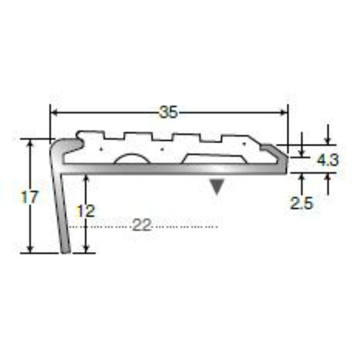 【壁・床スーパーセール】アシステップ 穴アリ(タイヤ付) 11-135S(D) K-7 レッド 2m