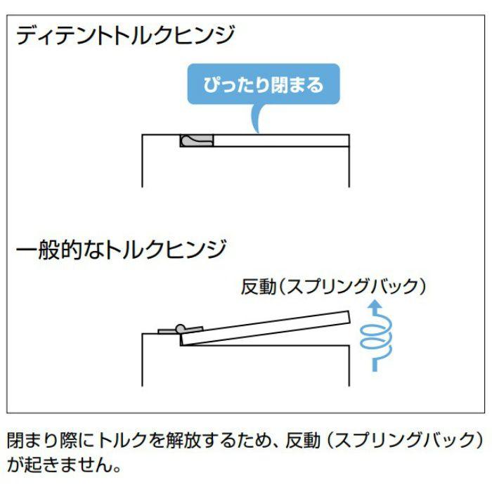 ランプ印 ディテントトルクヒンジ HG-DTB型 PAT HG-DTB8-R