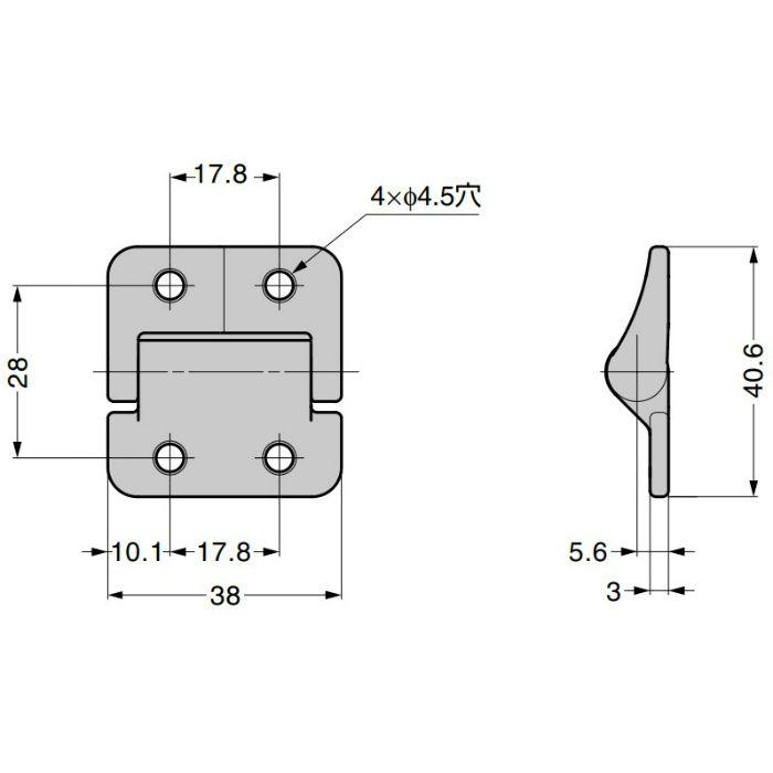 REELL トルクヒンジ PHC型 PHC35-130