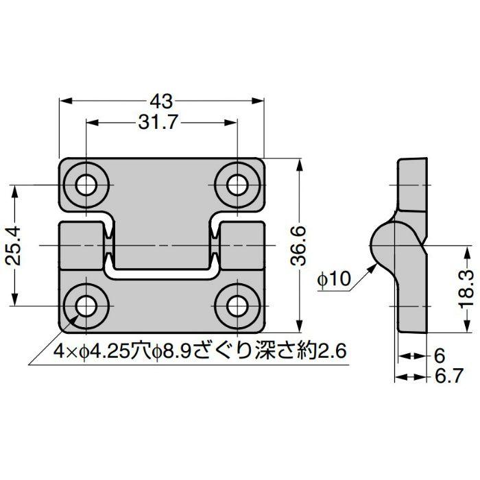 REELL トルクヒンジ MH12型 MH12-000