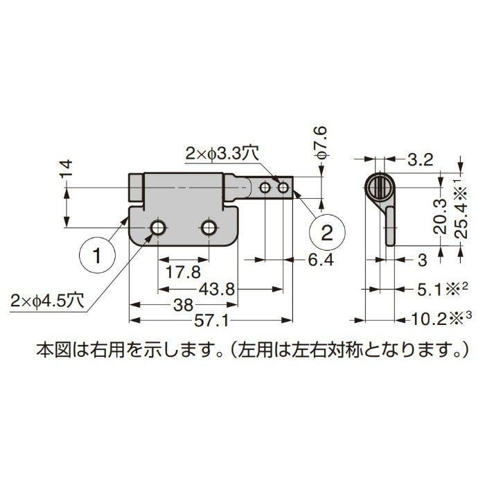 REELL トルクヒンジ PHB型 PHB34-030