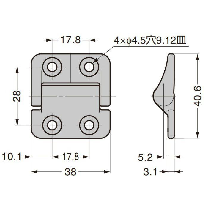 REELL ステンレス鋼製トルクヒンジ PHCS型 PHCS81-008