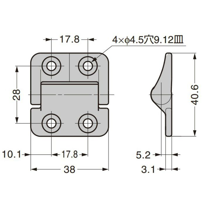 REELL ステンレス鋼製トルクヒンジ PHCS型 PHCS81-030