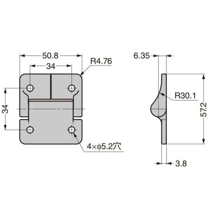 REELL トルクヒンジ PHL型 PHL80350-004