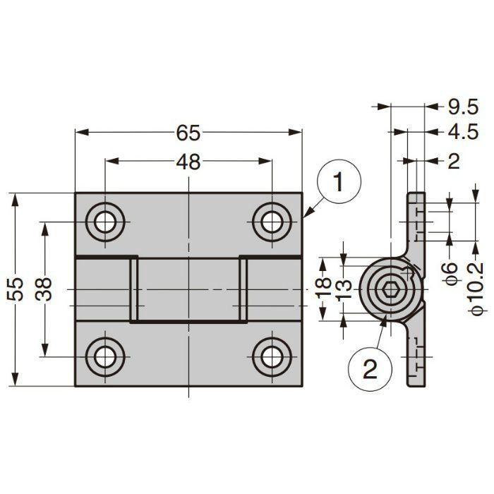 調整式トルクヒンジ  72-1-TM-4145