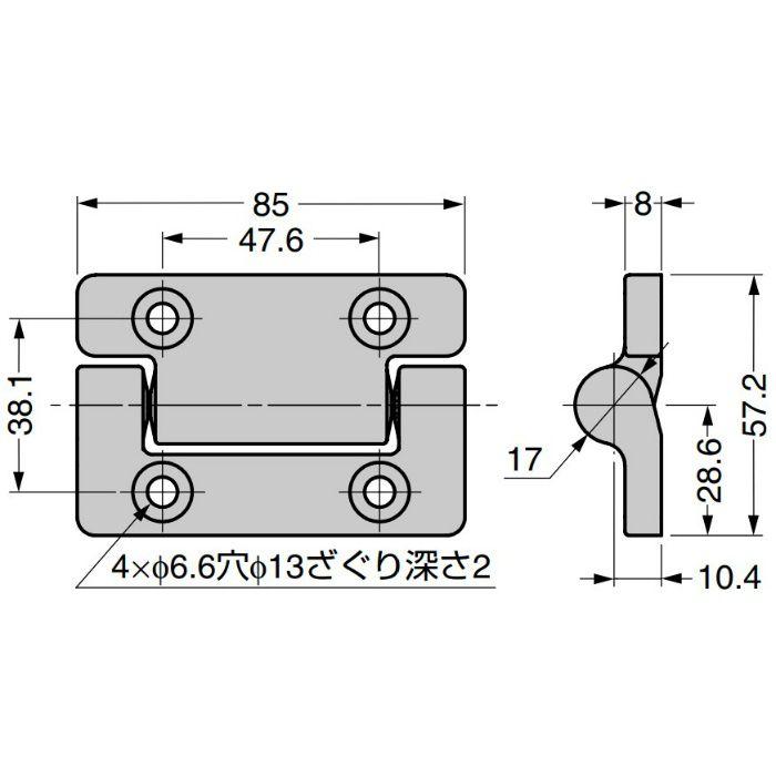 REELL トルクヒンジ MH15型 MH15-306