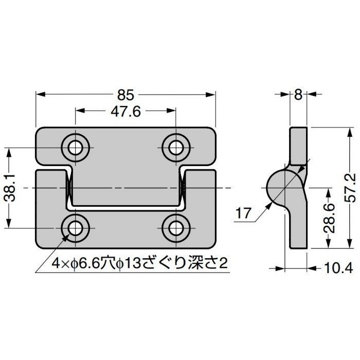 REELL トルクヒンジ MH15型 MH15-206