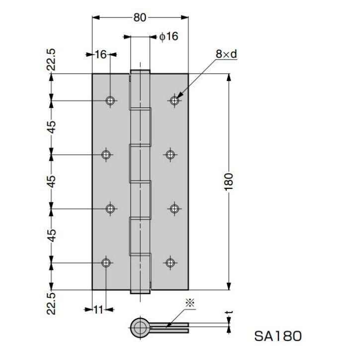 スプリング丁番 SA型 SA180-5814-05