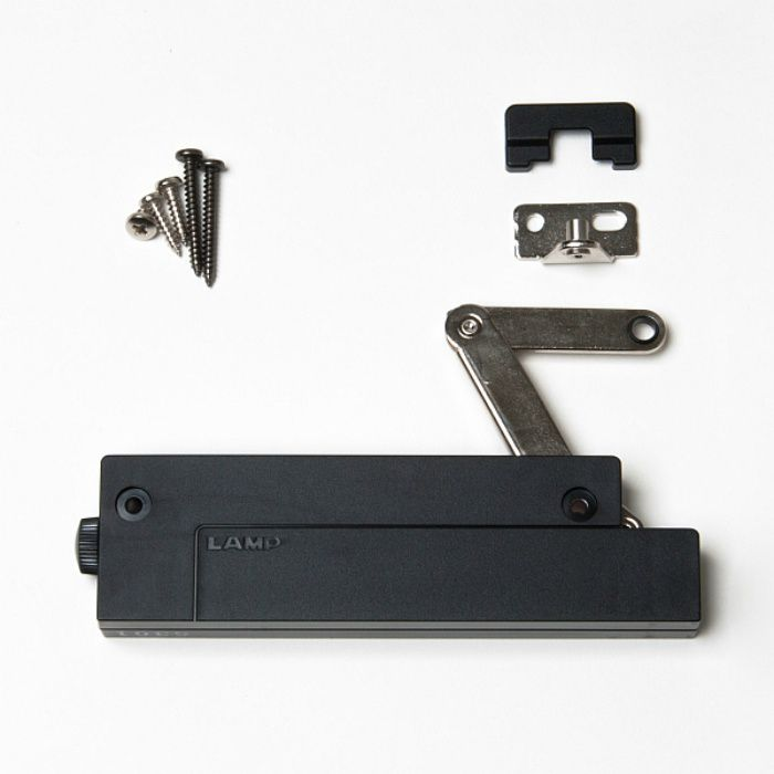 ランプ印 コンパクトソフトダウンステー CSD-10-TV型 簡単取付タイプ PAT ブラック CSD-10-TV-H-BL