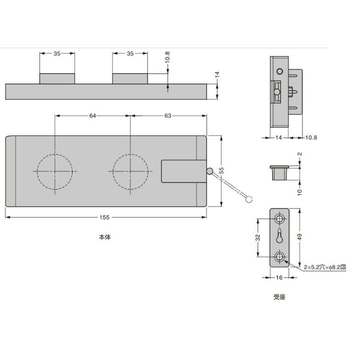 ITALIANA ワイヤーステー IT472型 PAT.P メタルグレー IT47235020UZ-AL280