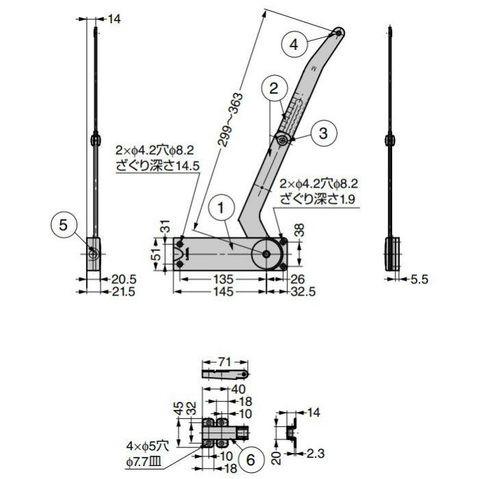 ランプ印 水平折戸ユニット HBFN型 HBFN-3M