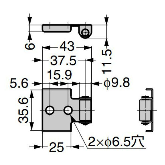 ランプ印 水平収納扉 ALT-3H 当り止め ALT-AD