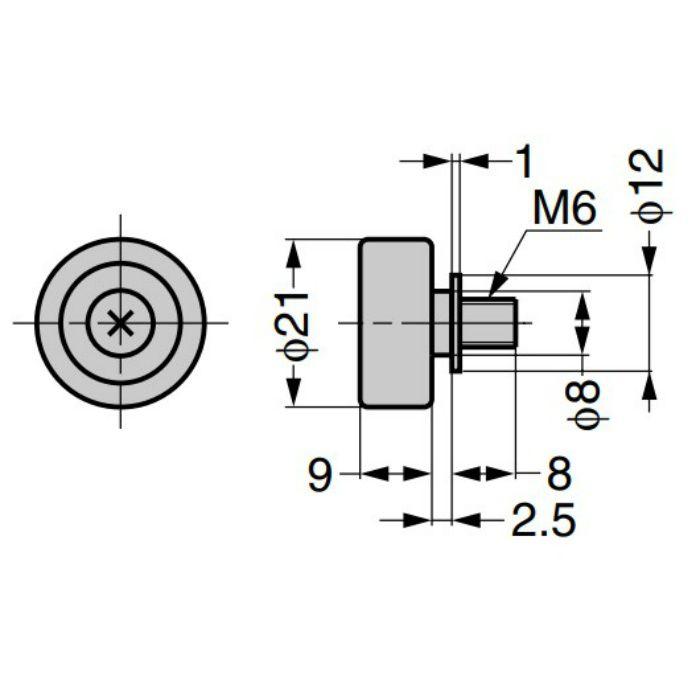 ランプ印 水平収納扉 ALT-3H ローラー DU19-B4SBR