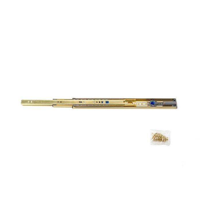 ランプ印 スライドレール 3670 セルフ&ソフトクロージング機構付 金色めっき仕様 3670-350GA