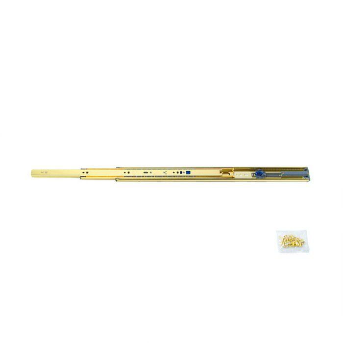 ランプ印 スライドレール 3670 セルフ&ソフトクロージング機構付 金色めっき仕様 3670-450GA