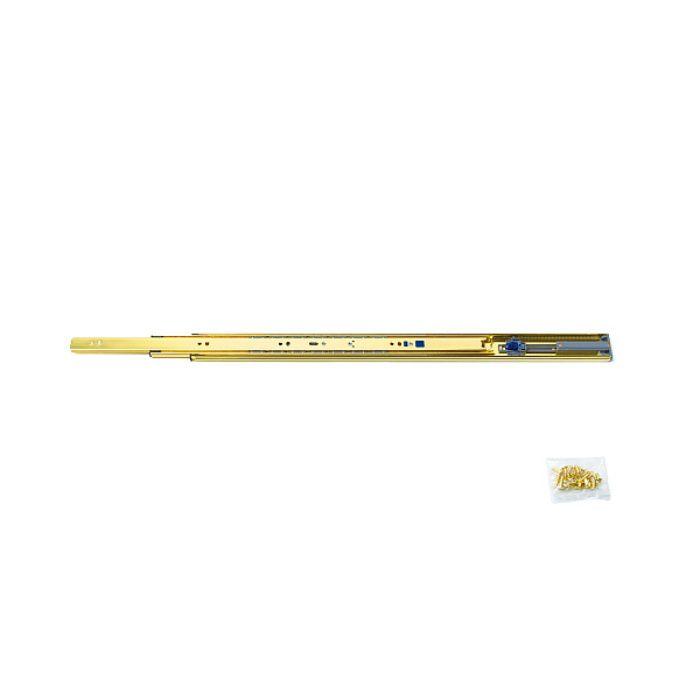 ランプ印 スライドレール 3670 セルフ&ソフトクロージング機構付 金色めっき仕様 3670-500GA