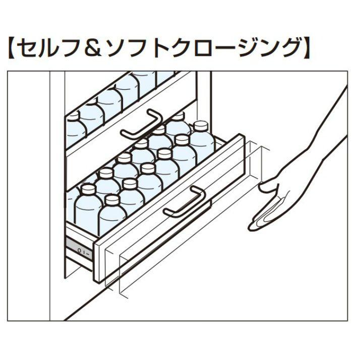 ランプ印 ステンレス鋼製スライドレール ESR4670 セルフ&ソフトクロージング機構付 ESR4670-28
