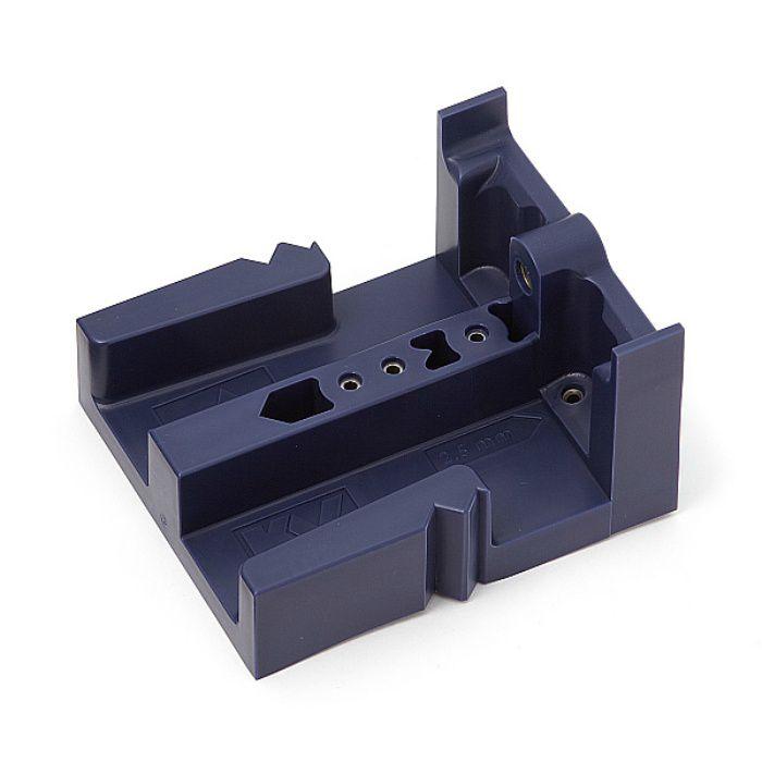 KNAPE&VOGT スライドレール 3400 セルフ&ソフトクロージング機構付 底付けタイプ 治具(別売品) ブルー 3400-121