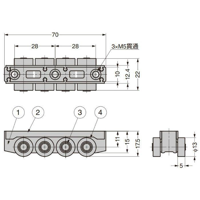 ランプ印 キャリッジ LGB-30CM
