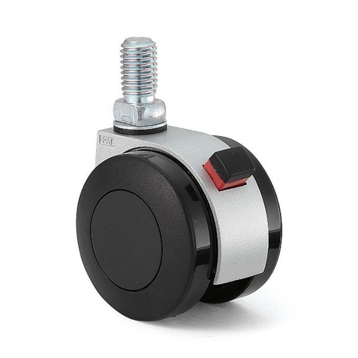 ランプ印 キャスター FA55N型 ねじ込みタイプ シルバー FA55N12SR