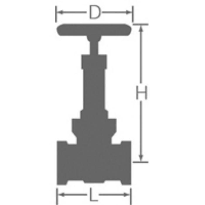 10G-HN 鉛カット 給湯用コアリング 青銅ゲート弁 10K 40A