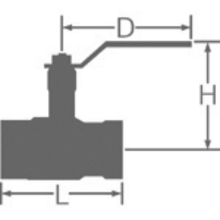 VLCSN 鉛カット 給水用コアリング 青銅ロングネックボール弁 10K・レバー 20A