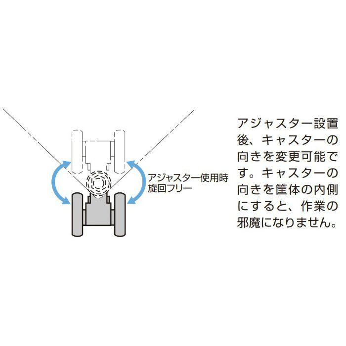 樹脂製アジャスター付キャスター CAP型 プレートタイプPAT.P ブラック CAPF50B