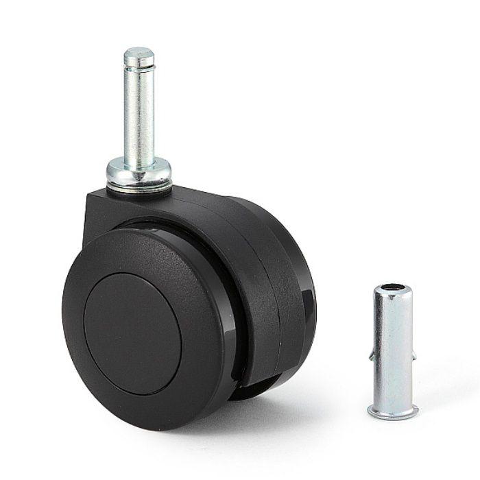 ランプ印 キャスター FP55S型 さし込みタイプ  ブラック FP55SR