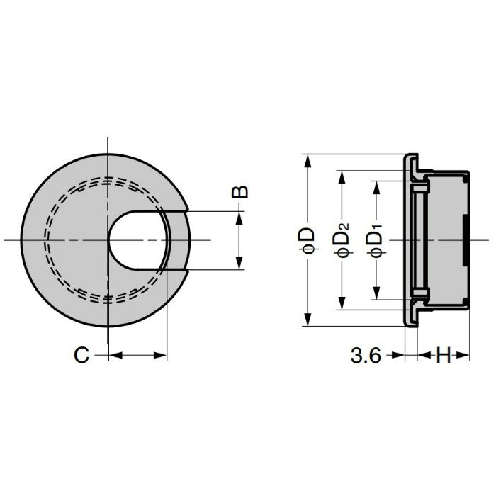 ランプ印 配線孔キャップ LS型 片側はめ込みタイプPAT ダークブラウン LS50S-DBR