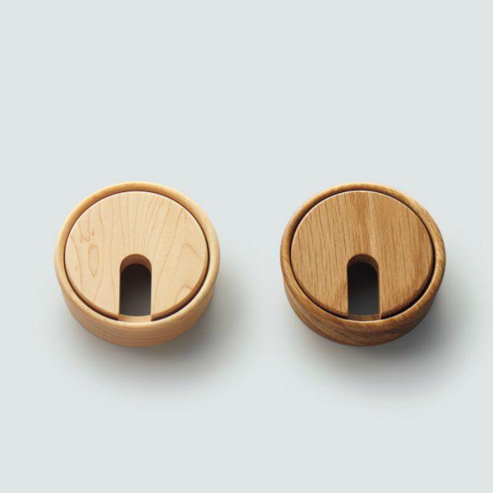 木製配線孔キャップ 2520型 ブラウン 25-20-405-1