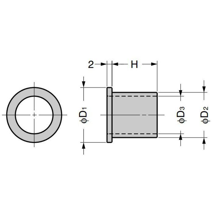 ランプ印 配線孔 CHC型 ブラック CHC-18BL