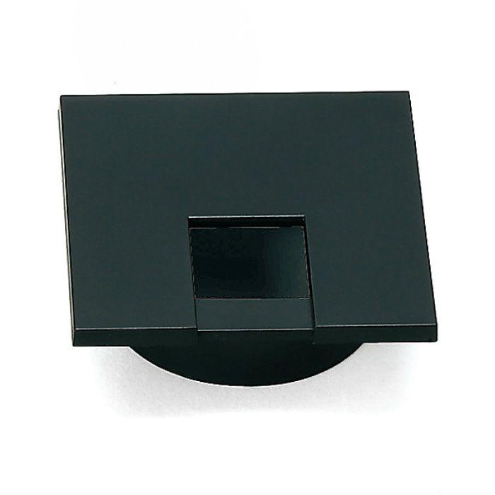 ランプ印 配線孔キャップ LS76KS型 片側はめ込みタイプPAT サイズ□76 ブラック LS76KS-BL