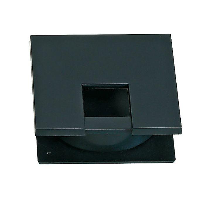 ランプ印 配線孔キャップ LSU60K型挟み込みタイプPAT サイズ□60薄型タイプ ブラック LSU60K-BL