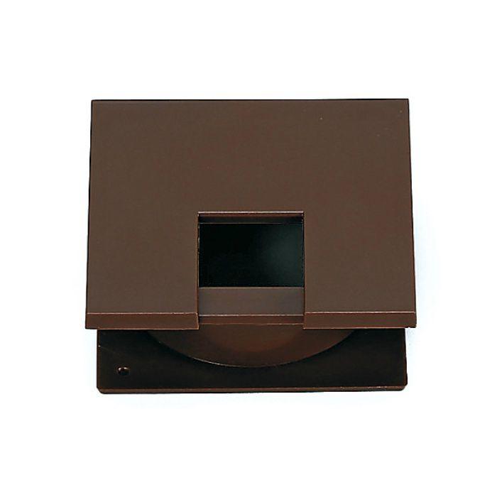 ランプ印 角型配線孔キャップ LS60K型挟み込みタイプPAT サイズ□60 ダークブラウン LS60K-DBR