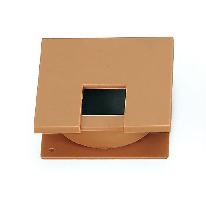 ランプ印 角型配線孔キャップ LS76K型挟み込みタイプPAT サイズ□76 ライトブラウン LS76K-LBR