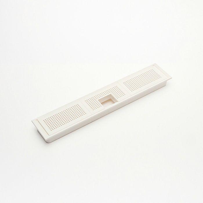 ランプ印 プラスチック製空気孔 APK-K型 配線孔機能付きPAT 空気孔・配線孔パネル+フレームセット ホワイト APK-KHW226P-WT