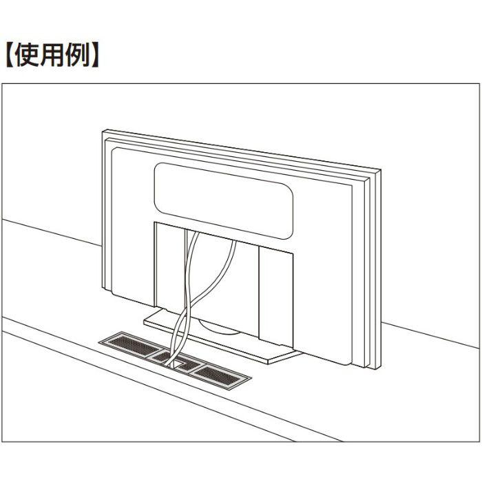 ランプ印 プラスチック製空気孔 APK-K型 配線孔機能付きPAT 空気孔・配線孔パネル+フレームセット ブラック APK-KHA152P-BL