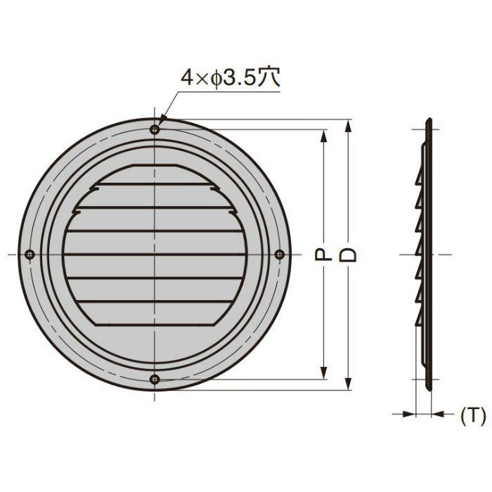 ステンレス鋼製 空気孔 4814型 481430