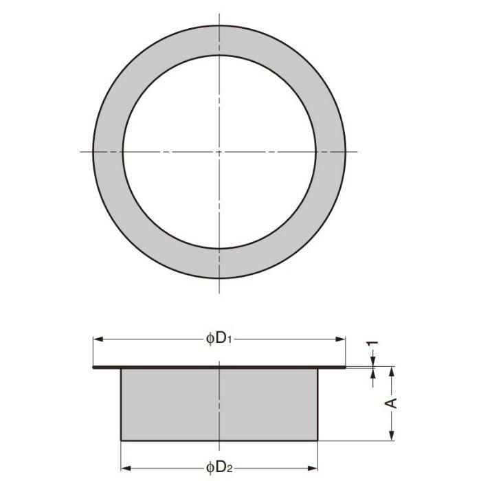 ランプ印 ステンレス鋼製 屑入投入口 AN-DH型 蓋無(深いタイプ) AN-DH005-HL