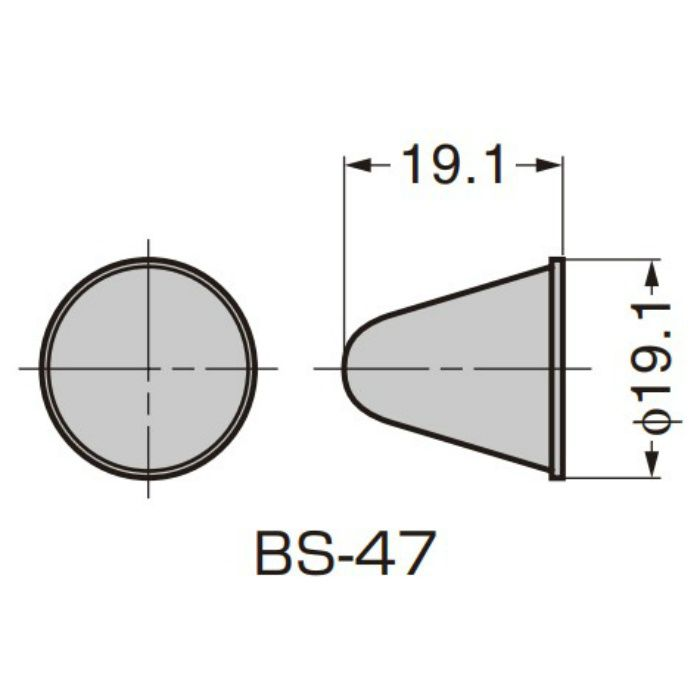 BSクリアバンパー クリア BS-47
